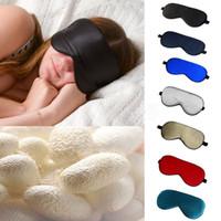 Wholesale Hot Selling Unisex New Pure SilK Sleep Eye Mask Eyeshade Shade Cover Travel Relax Aid Blindfold Colors MixOrder LN1216