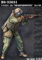 al por mayor guerra de vietnam-Venta al por mayor - Kit sin pintar 1/35 U.S.M.C. Figura del soldado de la guerra de Vietnam del tiraniza