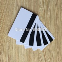 Wholesale Blank White PVC Hico magnetic stripe card Plastic Credit Card Mil Magnetic Card with printable for card printer