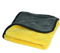 Wholesale AutoShine Car Care Wax Polishing Detailing Towels Car Washing Drying Towel Super Thick Plush Microfiber Car Cleaning Cloth