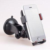 Wholesale Car phone holder GPS holder cell phone mount degree rotating bracket for iPhone5 samsung s6 s7 edge DHL