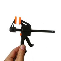 Wholesale 4 quot Inch F Woodworking Clamp Clamping Adjustable DIY Carpentry Woodwork Gadgets for home garden DIY tools