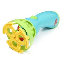 achat en gros de mitrailleuses jouets gros-Grossiste-Electric Bubble Gun Jouets machine à bulles Automatic Bubble Water Gun essentielle en été Outdoor Enfants Bubble Blowing Toy
