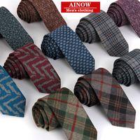 Wholesale Fashion cashmere Necktie Mens Business dress Tie For Men slim Neckties Handmade Wedding jacquard weave Tie