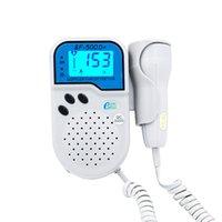 Wholesale Shipping free doppler fetal prenatal doppler color LCD digital wave display fetal heart rate and graphic ultrasound doppler