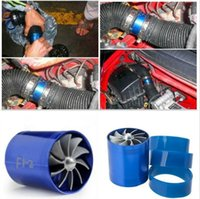 air intake turbonator - DOUBLE TURBO F1 Z Supercharger Dual Double Turbonator Air Intake Fuel Saver Turbo Charger Fan