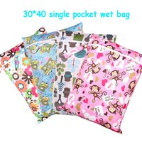 Wholesale cm PUL printed single pocket diaper bag waterproof wet bag baby nappy bags pail liner laundry bag for baby cloth diaper