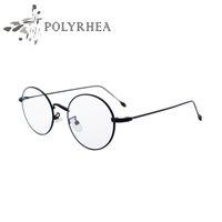 Wholesale High Quality Grade Eyewear Frames Vintage Round Glasses Female Brand Designer Spectacle Plain Glasses