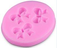 Mini Bowknot del silicone 3D stampi torta muffa del fondente del sapone muffa del cioccolato per la cucina cottura di trasporto