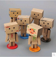 Wholesale japanese Style anime New Lovely Danboard PVC Danbo Doll Mini cm PVC Building model Toy with LED light