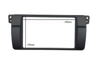 Wholesale Double Din Fascia For BMW Series E46 Radio DVD Stereo Panel Dash Mount Trim Kit Frame