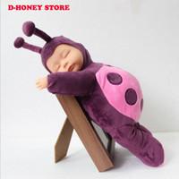 baby sleep sound - 35cm Soft Body Slicone Reborn Baby Doll Toy For baby Vinyl Newborn Girl sleep Dolls Kids Child Gift Coccinella septempunctata doll
