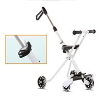Wholesale NEW Baby Portable Trike Lightweigh Tricycle Stroller Small Children Convenient Chair Sitting Folding Cart For Child years Five Wheels