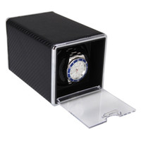 Wholesale High Quality New Arrival Black Automatic Single Watch Winder Rectangle Mute Box For Watches Gift