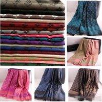 al por mayor bufandas de seda-Gran venta ! Las mujeres de seda de la bufanda del diseñador de la marca de fábrica de la nueva de la llegada de las mujeres 2017 mujeres LIBRES de la bufanda doblan la bufanda ligera de la franja del estilo y el mantón