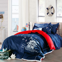 bedding textile suppliers - Combed cotton embroidered bed sheet bedding set home textiles manufacture supplier export quality love sea