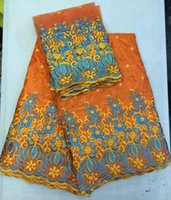 Wholesale african blouse bazin rich brocade emboidery lace fabric with blouse BZL02 fast delivery