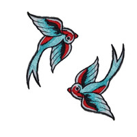 Wholesale 10 Pieces Cartoon Swallow x7cm Embroidered Applique Iron On Patch Kids Patch