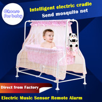 automatic rocking crib - Baby cradle bed baby crib electric cradle portable baby bed folding automatic concentretor band mosquito net