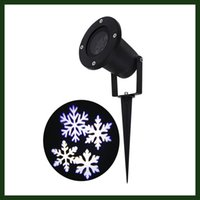Wholesale Christmas Projection Lamp - Christmas Projector Lamp Moving White Snowflake LED Landscape Projection Lights Outdoor Indoor Decor Spotlights Stage Irradiation
