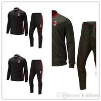 ball thailand - Custom Made in Thailand Quality Latest AC Milan Black Training Dress Ball Set