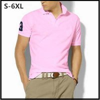 Wholesale Polo Shirt Men Big Horse Big Size S XL Short Sleeve Camisa Polo Solid Summer Casual Polo Shirts Mens DHL