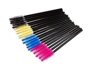 best eyeliners - best deal make up brush Pink synthetic fiber One Off Disposable Eyelash Brush Mascara Applicator Wand Brush