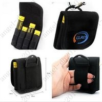 Wholesale 18650 battery bag li ion cylinderical case pouch holster