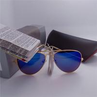 al por mayor las mujeres de los vidrios del espejo-Vidrios de Sun del deporte de la vendimia de las gafas de sol de las gafas de sol de las mujeres de los hombres del espejo de la manera del diseñador de la marca de fábrica de la alta calidad