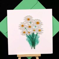 beautiful greetings - 2016 High grade texture can be customized Love creative festive Beautiful little Daisy pure handmade Paper Rolling greeting card