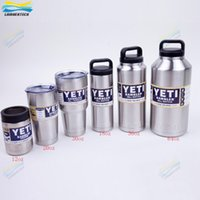 Wholesale YETI oz OZ oz oz oz Clear Lid Rambler Cups for Yeti Coolers Cup Sports Mugs Large Capacity Stainless Steel Bottle