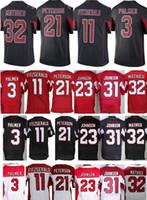 Wholesale Cheap Mens Carson Palmer Larry Fitzgerald Patrick Peterson Tyrann Mathieu David Johnson Red Black White Jersey