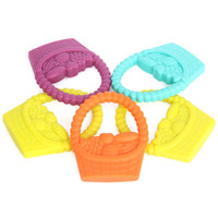 baby fruit basket - New Silicone Baby Fruit Basket Teether Chewable Silicone Pendant Safe and Natual Nursing Teething Toys for Baby Toddlers