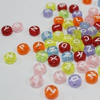 alphabet beads by letter - Factory direct sale grams of a kilo Transparent acrylic beads DIY beads alphabet beads by hand