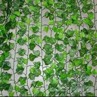 Wholesale m Artificial Ivy Leaf Garland Plants Vine Fake Foliage Flowers Home Decor Plastic Artificial Flower Rattan Evergreen Cirrus