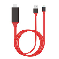 Wholesale MHL lightning to HDMI Cable Adapter Plug and Play For Apple iPhone5 s s plus s plus plus ipad4 ipad mini IOS