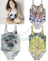 bathing suits brands - 2016 Summer One Piece Kids Swimsuit Tiger Print Swimsuit for Girls Brand new Kids Swimwear Girls Bathing Suits Girls Swimwear Seal Panda
