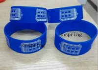 Wholesale New Popular Doctor Who Wristband Silicone Promotion Gift Filled In Color Bracelet S