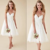 Reference Images buy direct from china - Cheap Lace Short Wedding Dresses Buy Direct From China Spaghetti Straps A Line Bridal Gowns Handmade