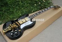Cheap Wholesale SG400 Guitars,black gloss finish 3 pickups,SG custom electric guitar with OEM