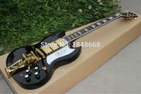 Wholesale SG400 Guitars black gloss finish pickups SG custom electric guitar with OEM