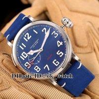 Acheter Bracelet en cuir pilote-Marque de luxe Type 20 GMT Montre Automatique Hommes 95.2430.693 / 51.C751 47mm Pilot Blue bleu cadran bracelet en cuir montres pour hommes