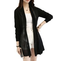 air conditioner s - new spring summer korean women loose medium long sweater female cardigan thin air conditioner shirt cape outerwear LH096