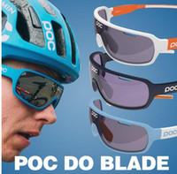 Lunettes de soleil Poc Lunettes de soleil à 4 lentilles Lunettes de cyclisme Polarisées Hommes Lunettes de sport Gafas Ciclismo Sport Vélo Mountian do blade VTT Sport Bike Glasses