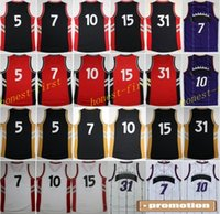 basket material - BestHigh Basketball Jerseys Throwback Sport Shirt Rev New Material Retro Basket ball With Player Name Team Logo