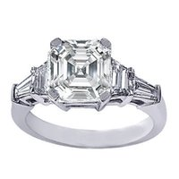asscher wedding rings - Gorgeous GIA TCW VVS1 Asscher Cut Diamond Five Stone Engagement Ring K