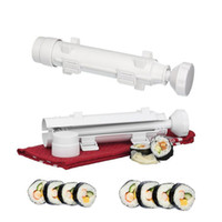 Wholesale 2017 new Sushi Bazooka Sushezi Roller Kit Sushi Mold Maker Bazooka Sushi Rolls Making Tool Rice Mould Roller Cooking Tools Christmas gifts