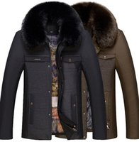 Wholesale Winter Comfortable Men Jackets and Coats Leisure Thick Warm Jacket Men s Rabbit Fur Collar Coat parka Clothing Large size XXXL XL