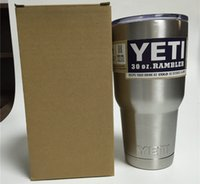 Wholesale Yeti Car Cups Bilayer Wall Stainless Steel Insulation Cup oz oz YETI Rambler Tumbler Cup kitchen grade Insulation Cup