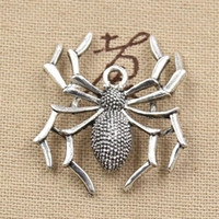 Charms antique tibetan bracelet - Cents Charms spider halloween mm Antique Making pendant fit Vintage Tibetan Silver DIY bracelet necklace